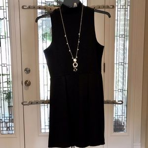 LBD:  Sleeveless Knit Dress with Funnel Neck